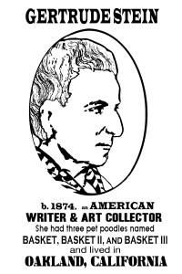 Gertrude Stein by Lena V. Reynoso